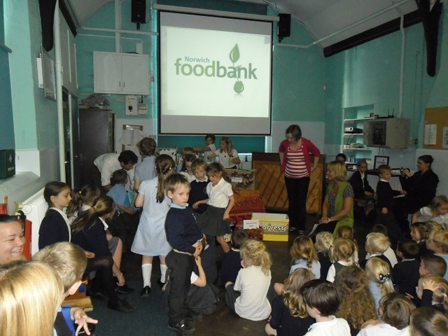 Supporting Norwich Food Bank For Harvest Wicklewood