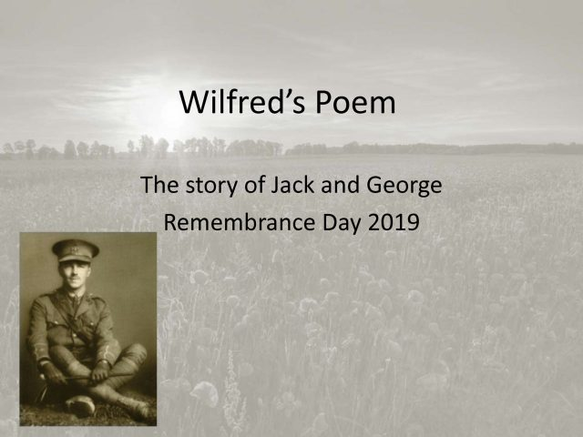 thumbnail of Wilfred's Poem Remembrance