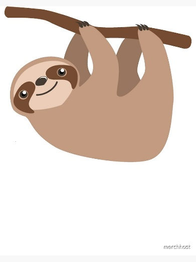 "Cute Baby Cartoon Sloth Design"" Art Board Print by merchhost ..."