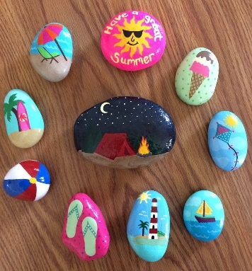 Painted rocks, Summer, beach, flip flops, Awesome Summer Rocks ...